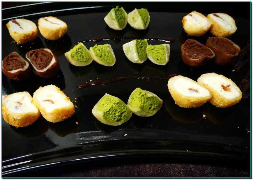 De Mochis i de cuina japonesa en sabem, així que per acabar un bon àpat a Taverna Japonesa Cal Roka podeu demanar el nostre assortiment de MOCHIS